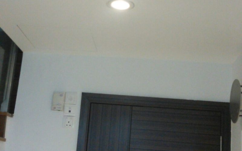 Install-LED-ceiling-downlight-false-ceiling-electrician-singapore