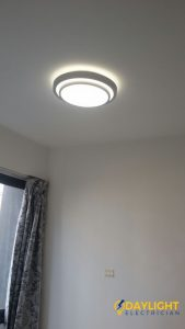shift lighting point install 3 colour change LED ceiling light electrician singapore condo The Amarelle Paya Labar 1