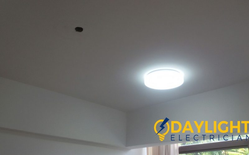 shift lighting point install 3 colour change LED ceiling light electrician singapore condo The Amarelle Paya Labar 3