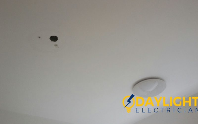 shift lighting point install 3 colour change LED ceiling light electrician singapore condo The Amarelle Paya Labar 6