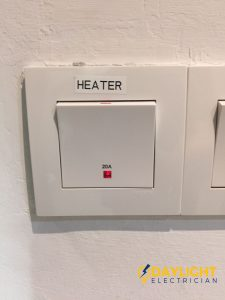 Change Water Heater Switch Electrician Singapore Landed Joo Chiat
