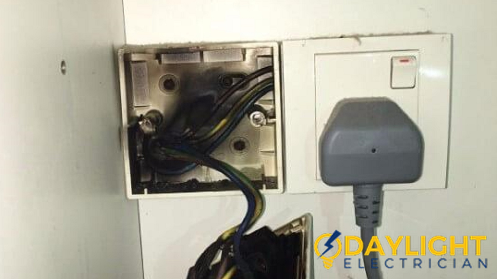 Electrical Works Projects Done By Daylight Electrician Singapore Repair Wall Outlet Replace Power Socket Overload Burnt Landed West Coast Faber Drive