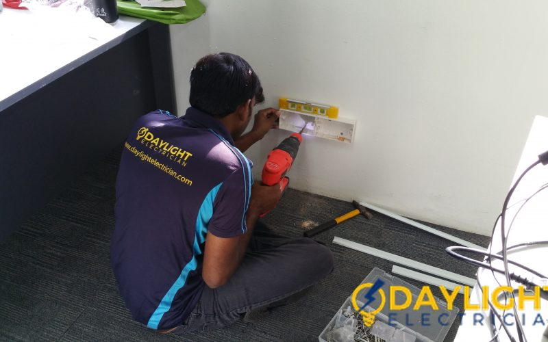 Office-Power-Point-Installation-Electrician-Singapore-Commercial-Bukit-Merah-2