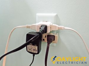 overloaded electrical outlet daylight electrician singapore