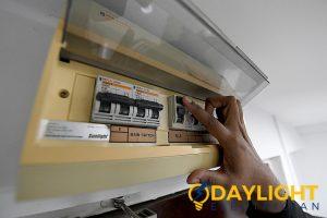 circuit breaker power trip daylight electrician singapore