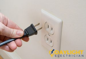 unplug electrical outlet power failure daylight electrician singapore