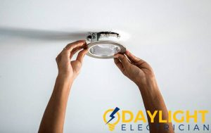 installing-fixture-downlight-replacement-daylight-electrician-singapore