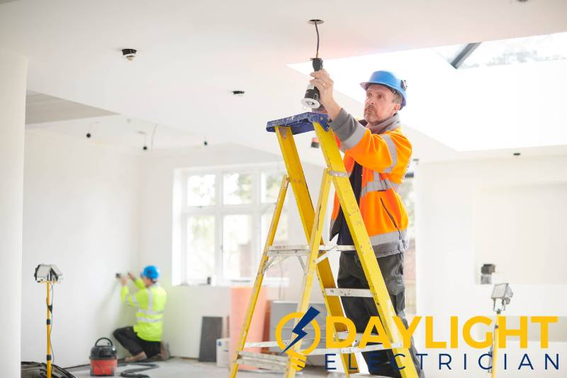 electrician-setting-up-lights-led-light-installation-everyworks-electrician-singapore