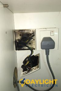 burnt-socket-wires-power-socket-installation-daylight-electrician-singapore